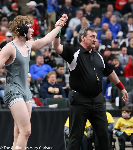 160AA - 5th Place Match - Nate Carlson (Annand M Lk Lightning) 33-5 won by fall over Sakai Kelly (Henry Sibley) 38-8 (Fall 2:45)