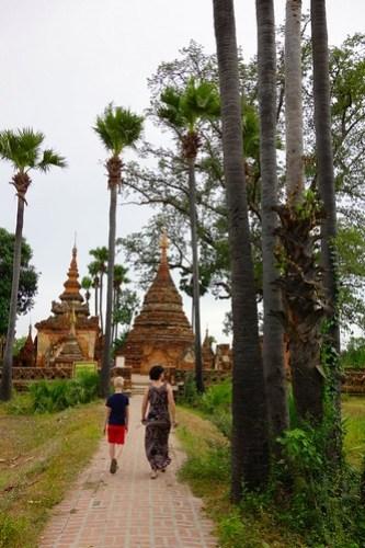 Pagoda at Inwa (Ava) Myanmar