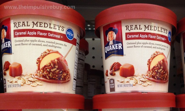 Quaker Real Medleys Caramel Apple Flavor Oatmeal