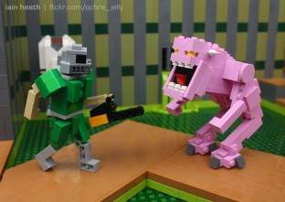 LEGO DOOM: Hey demon, let's carve some meat!