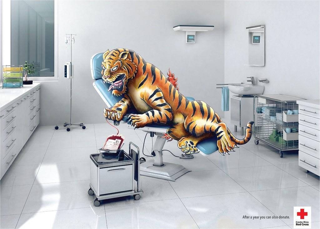 Red Cross- Tattoo blood donation tiger