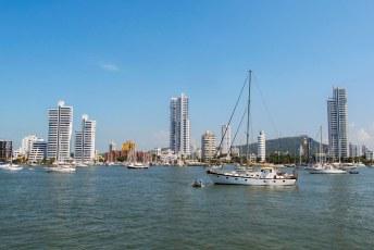 Een laatste blik op Cartagena (voorlopig) vanaf de Independence, waarmee ik naar Panamá voer.