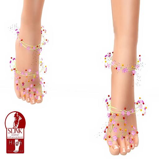 *N*HAZERAN - coral flower feet