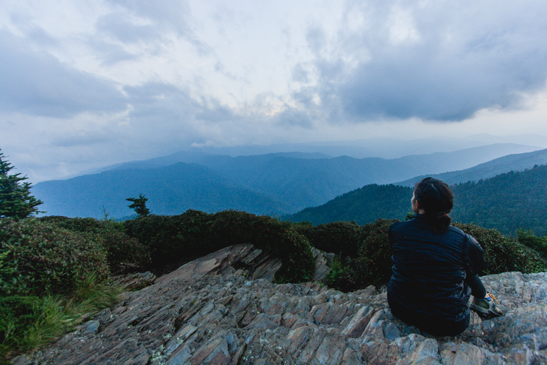 mt. leconte summit cliff top sunset