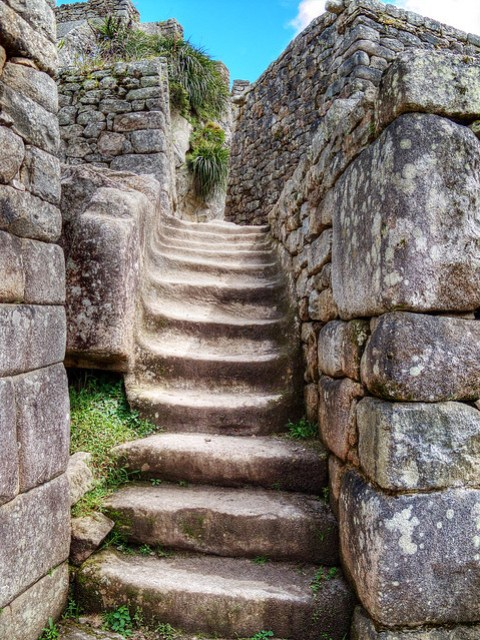 Staircase, Machu Picchu.