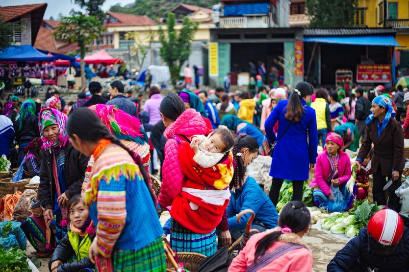 The famous Bac Ha Sunday Market.