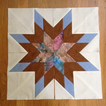 Burlap and Batik star