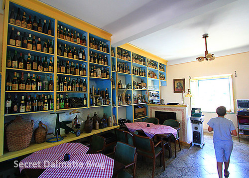 Interior - sort of a museum of wines