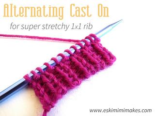 Super Stretchy Alternating Cast On For Single Rib