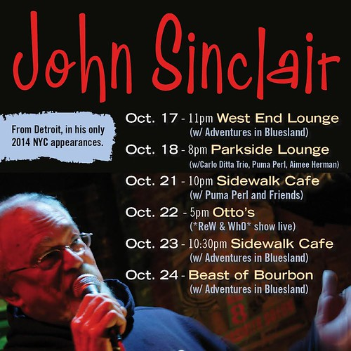 John Sinclair - NYC Tour Dates October 2014