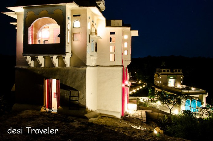 Zanana and Mardana Mahal glow in the night Lakshman Sagar