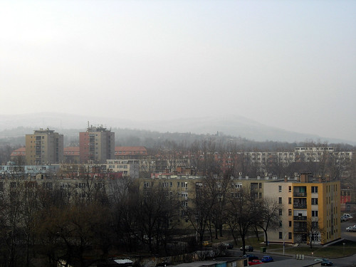 Kazincbarcika in the winter