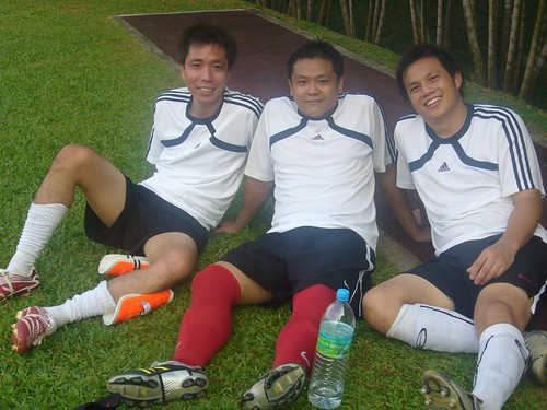 Me and my soccer buddies- Xavier and Kio
