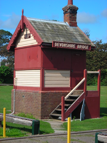Signal box in the park