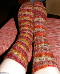 Finished New Year socks from Sockamania KAL