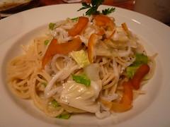 白魚とキャベツ、カラスミのスパゲティ
