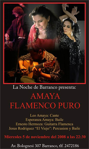 Afiche Flamenco