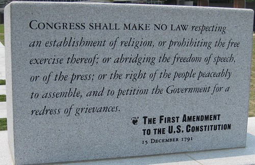 First Amendment to the US Constitution