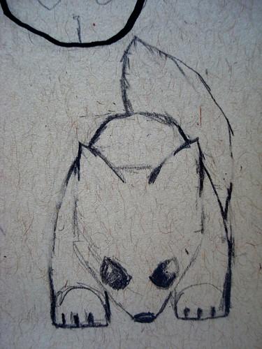 plush totem fox sketch