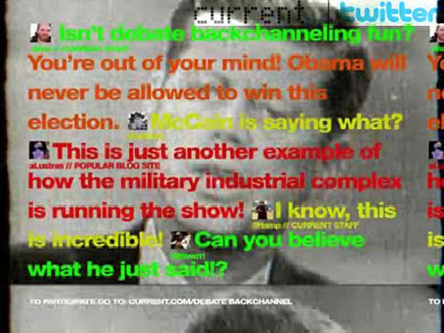 Social TV: CurrentTV + Twitter + Presidential Debate