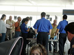 TSA at Gate B8
