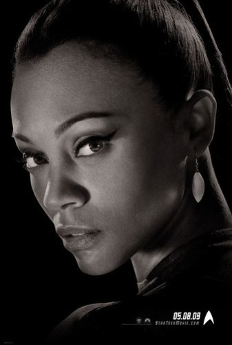 Star Trek (2009) Uhura B&W