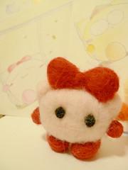 暖笠笠的蝴蝶女.Wool Ribbon Girl :)