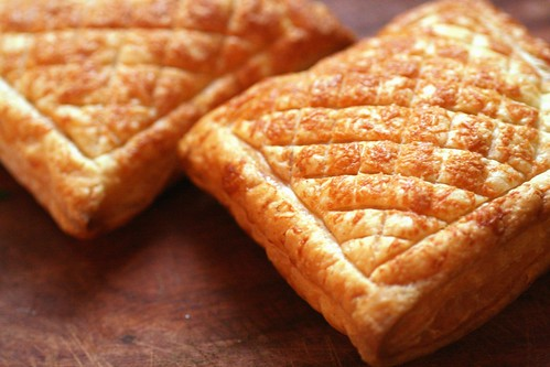 Golden pastry boxes