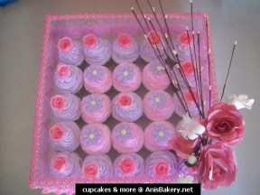 ----- pink & purple cupcakes | hantaran set  -----