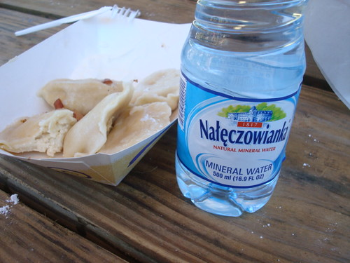 Pierogi and Water