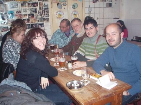 Vero, Pau y León en Brouwerij't Ij