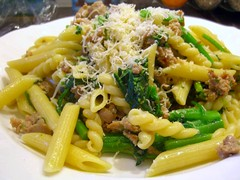 Sausage and rapini pasta by letitia & steve