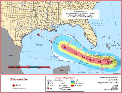 Hurricane Ike 9.8.2008 11 a.m.