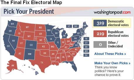 The Fix Electoral Map
