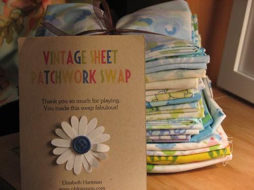 Vintage sheet patchwork swap
