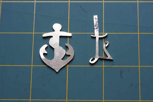 Anchor and L Pendants in Progress