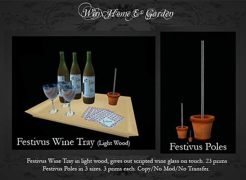 Festivus Tray in Light Wood (also available in dark wood)