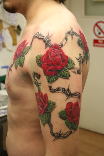 roses tattoo by Mirek vel Stotker