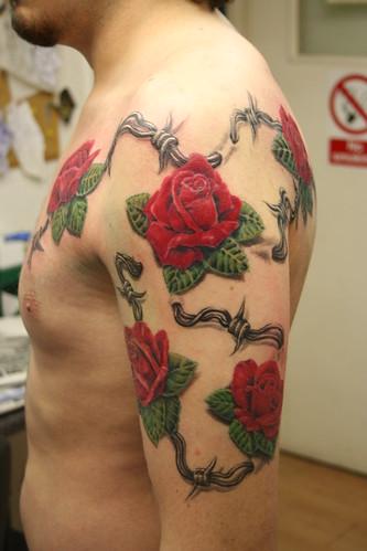 roses tattoo by Mirek vel Stotker