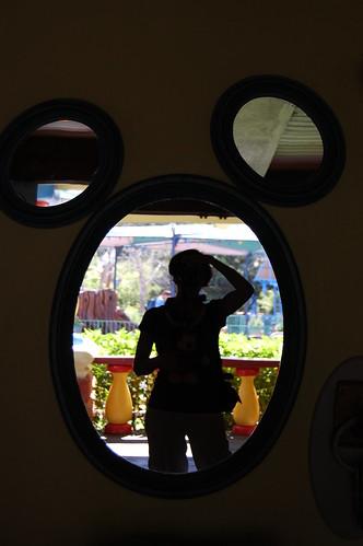 Yep, that\'s me...in Mickey\'s mirror.