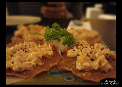 Salmon Crisps at Ebisu