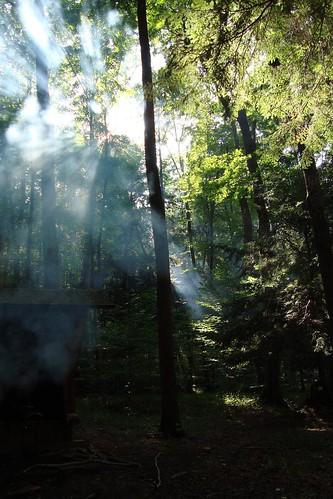 Sun and Campfire Smoke