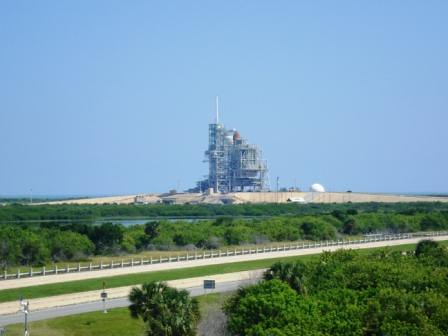 Launch Pad A with Space Shuttle Atlantis