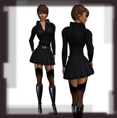Glamour coat in black