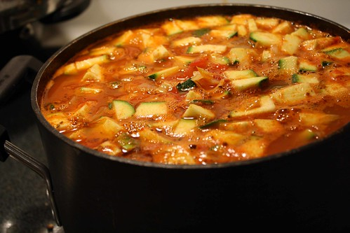 soup cooking on the stove