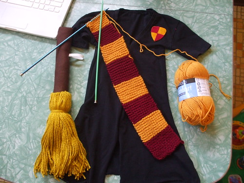 costume-making on Halloween afternoon