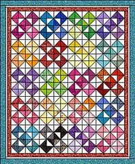 Criss Cross Quilt by Sandi Walton at Piecemeal Quilts