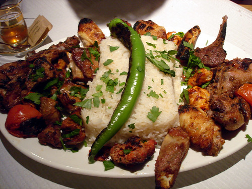 Mixed Grill with Rice