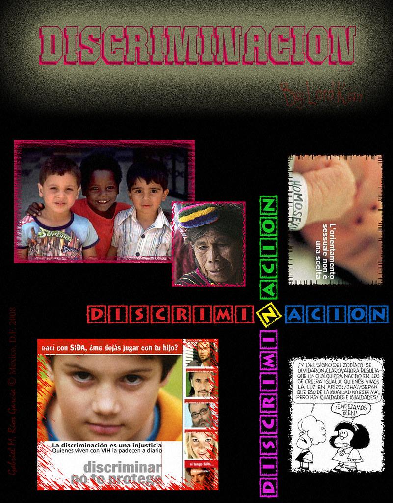 cartel contra la discriminacion