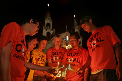 Freedom from coal candle lighting ceremony in Jaro Cathedral